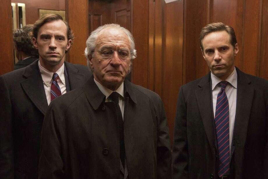 "Nathan Darrow as Andrew Madoff, Robert De Niro as Bernie Madoff and Alessandro Nivola as Mark Madoff in HBO's ""The Wizard of Lies."" Photo: Craig Blankenhorn-HBO / The Washington Post"
