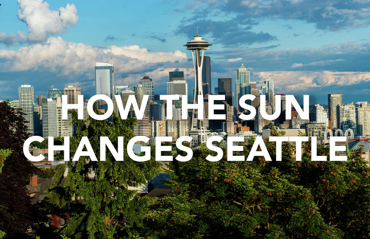 How the sun changes Seattle.