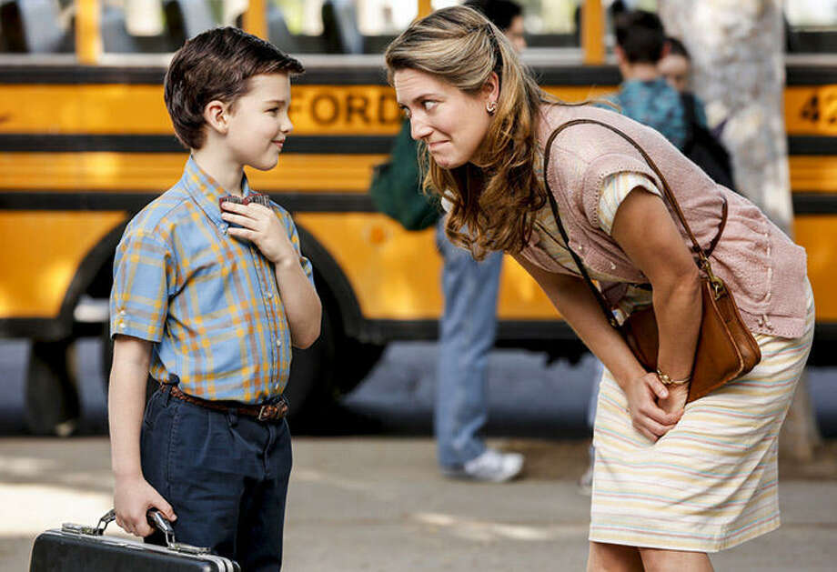 Iain Armitage and Zoe Perry, Young Sheldon | Photo Credits: Robert Voets, CBS / ©2017 CBS Broadcasting, Inc. All Rights Reserved