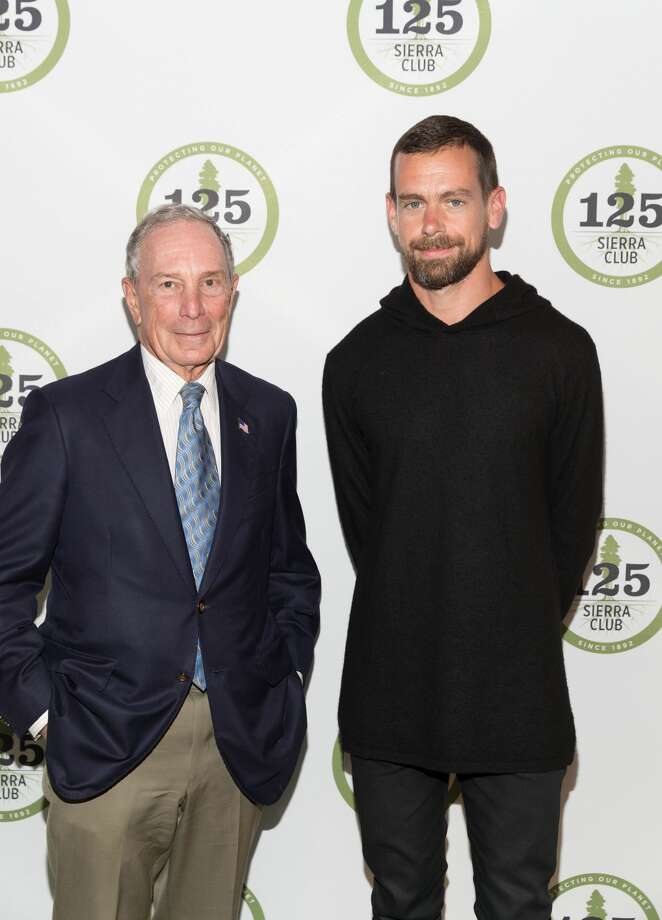 Michael Bloomberg and Jack Dorsey attend The Sierra Club's 125th Anniversary Trail Blazers Ball on May 18th 2017 at Palace of Fine Arts Theatre in San Francisco, California Photo: Drew Altizer Photography/Photo - Drew Altizer