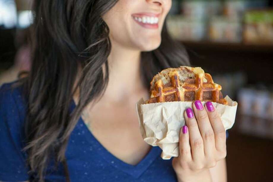 Peet's Chicken and Waffle sandwich Photo: Courtesy Of Peet's