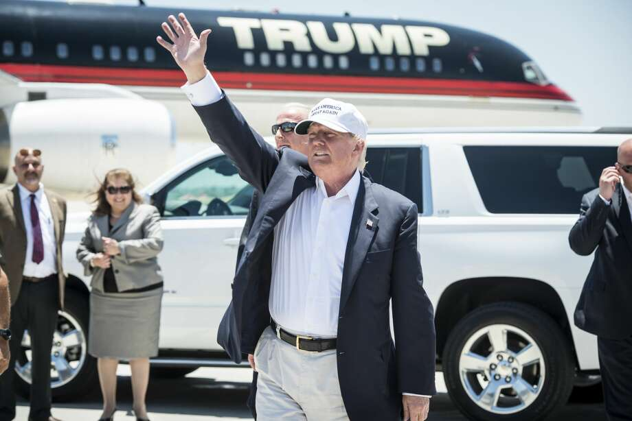 Click through this gallery to see photos of when Donald Trump visited Laredo as a presidential candidate in 2016. Photo: Matthew Busch/Getty Images
