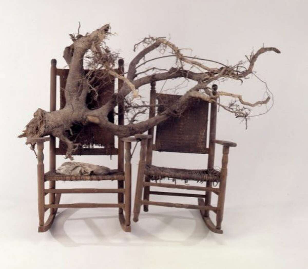 """Lonnie Holley's """"Him and Her Hold the Root,"""" a 1994 work in """"Revelations"""" at the de Young Museum"""