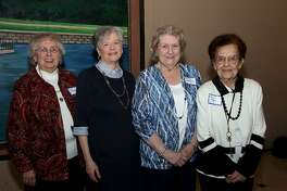 Bridgeport Hospital honored its volunteers with the most lifetime hours: Joan Crossman of Fairfield, left, Mary Ann Peterson and Anne Lussen of Stratford, and Gina Ryan of Trumbull.