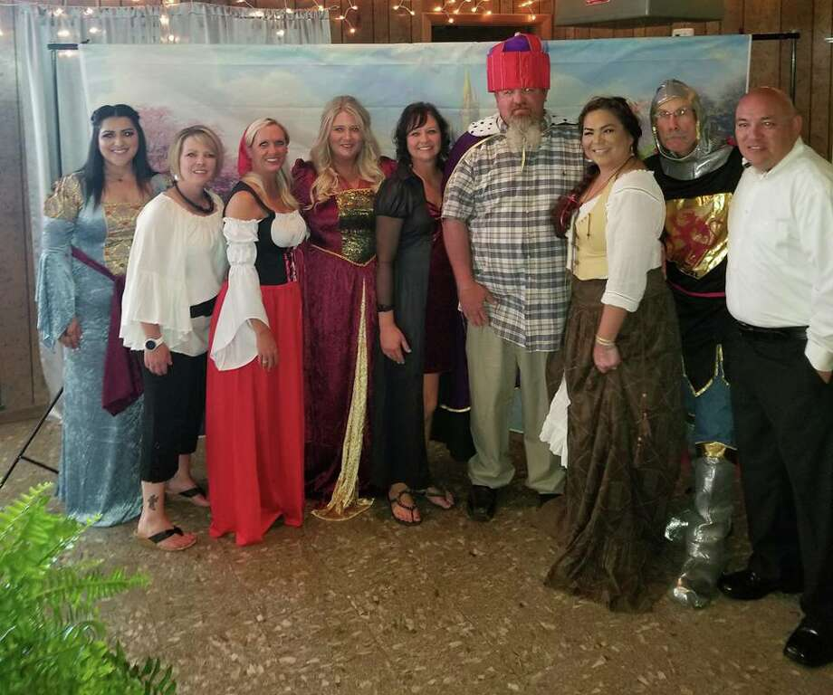 Serving as hosts and hostesses from the Plainview Elks Lodge #1175 for the fourth annual Special Needs Prom on May 13 were Brenda Ramirez (left), Mary Ann Pinkerton, Kendra Guerra, Athena Stennett, Tiffany Niell, Cody Lindeman, Nora Ramos, Kenneth Hooper and Dion Guerra.