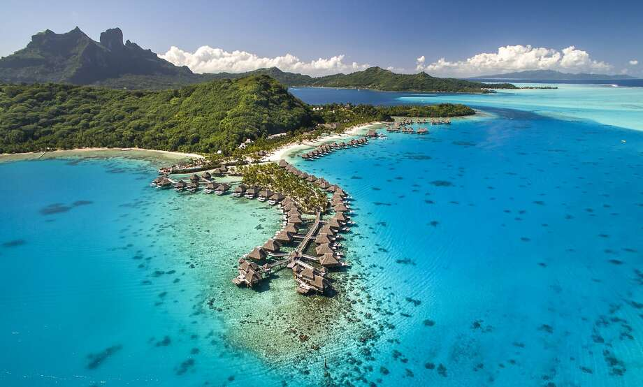 The 114-room Conrad Bora Bora Nui, a multimillion-dollar transformation of a former Hilton resort, is the first new five-star resort on the French Polynesian island in a decade. Photo: Conrad Bora Bora Nui