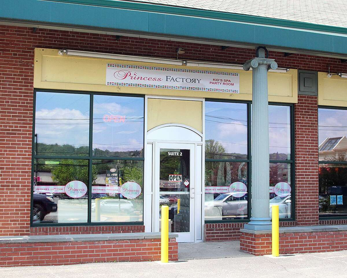 The exterior of a new kids spa business, Princess Factory, in New Milford, Conn., on Friday, May 19, 2017.