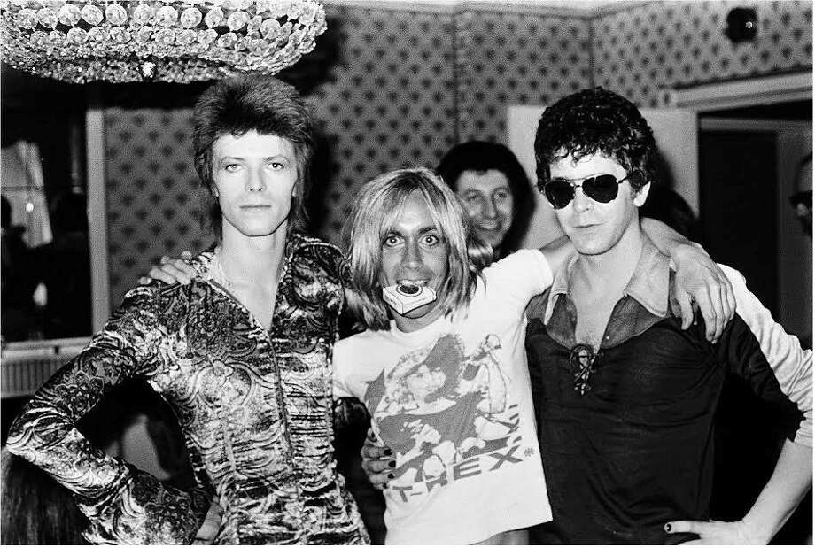 "The Hearst Movie & A Martini group is screening a new documentary, ""Shot!,"" about photographer Mick Rock, whose 1970s era subjects included David Bowie, left, Iggy Pop and Lou Reed. Photo: Contributed Photo / Connecticut Post Contributed"