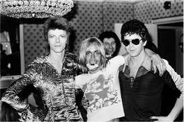 """The Hearst Movie & A Martini group is screening a new documentary, """"Shot!,"""" about photographer Mick Rock, whose 1970s era subjects included David Bowie, left, Iggy Pop and Lou Reed."""