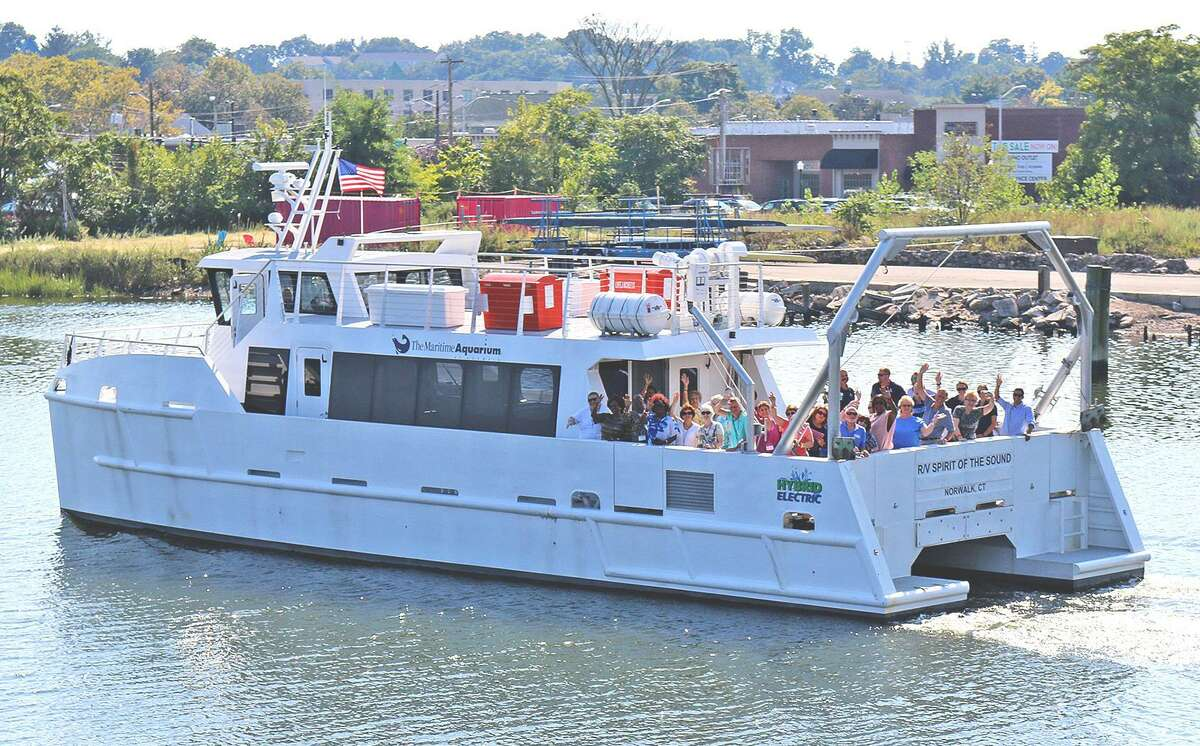 Every Friday, the R/V Spirit of the Sound will head out to Long Island Sound as part of the Maritime Aquarium at Norwalk's