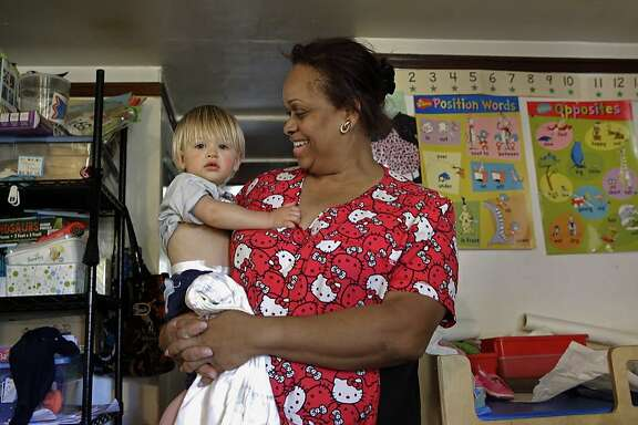 Nancy Harvey runs a child day care out of her home in Oakland, Ca., as seen on Friday May 19, 2017. Harvey has been able to get health insurance through the ACA and receives subsidies to buy a Kaiser plan through Covered California.