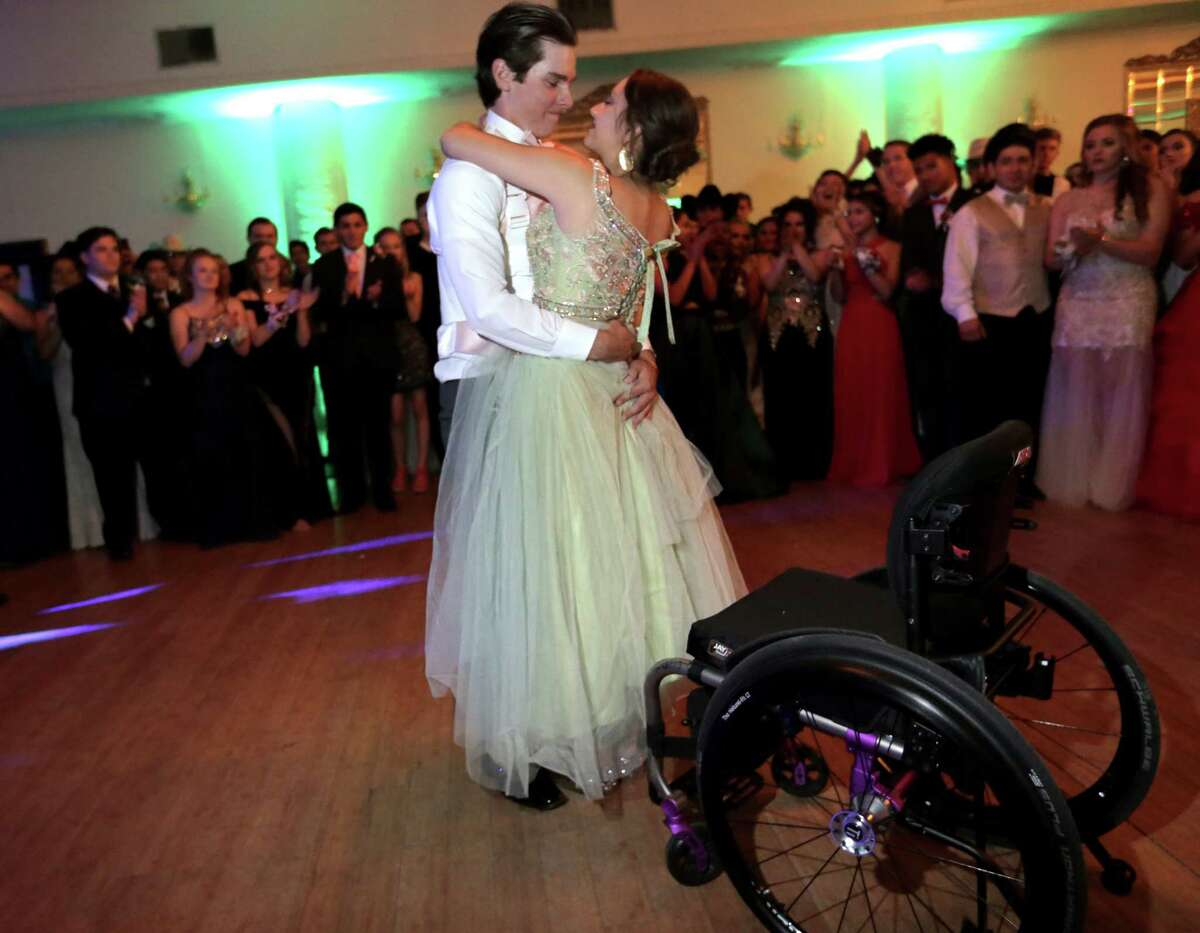 When Needville'sKatie Vacek broke her back during a tree-climbing accident, her high school sweetheart, Kernie Baker, rocked their town with a touching promposal. Baker won a free tuxedo from Al's Formalwear, and the young couple was crowned prom queen and king. Thanks to a custom harness fashioned by TIRR Memorial Hermann, the teenage love birds shared one special spin on the dance floor.