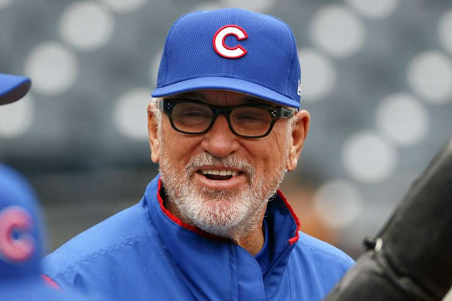 Chicago Cubs manager Joe Maddon watches batting practice before a baseball game against the Pittsburgh Pirates in Pittsburgh, Monday, April 24, 2017. (AP Photo/Gene J. Puskar) Photo: Gene J. Puskar, Associated Press