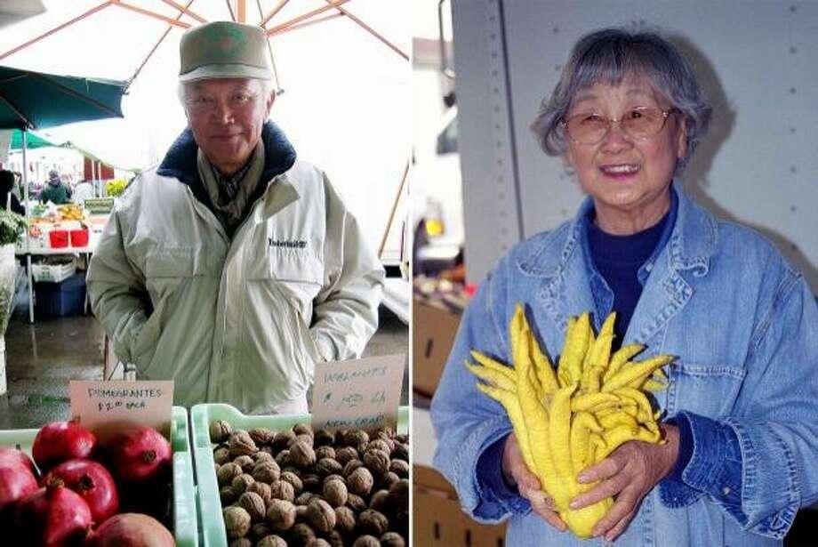 Yukio Hamada (left) and Yonki Hamada of Hamada Farms. Photo credit: CUESA Photo: Photo Credit: CUESA