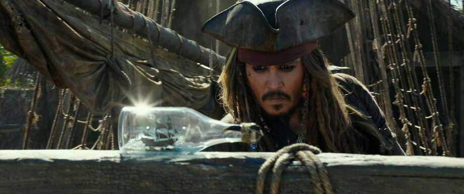 "Johnny Depp as Captain Jack Sparrow in the film, ""Pirates of the Caribbean: Dead Men Tell No Tales.""  Photo: Disney Enterprises, Inc., TNS"
