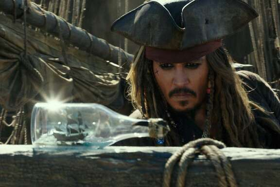 "Johnny Depp as Captain Jack Sparrow in the film, ""Pirates of the Caribbean: Dead Men Tell No Tales."" (Disney Enterprises, Inc.)"