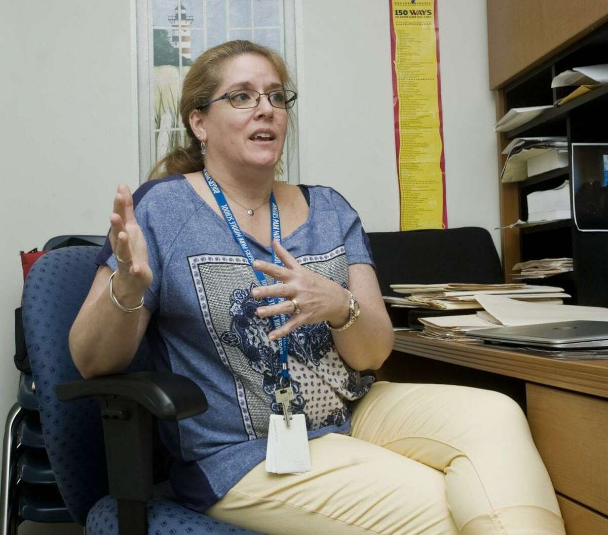 Carolyn Cunningham, a licensed professional counselor at Rogers Park Middle School's health center. Thursday, May 18, 2017