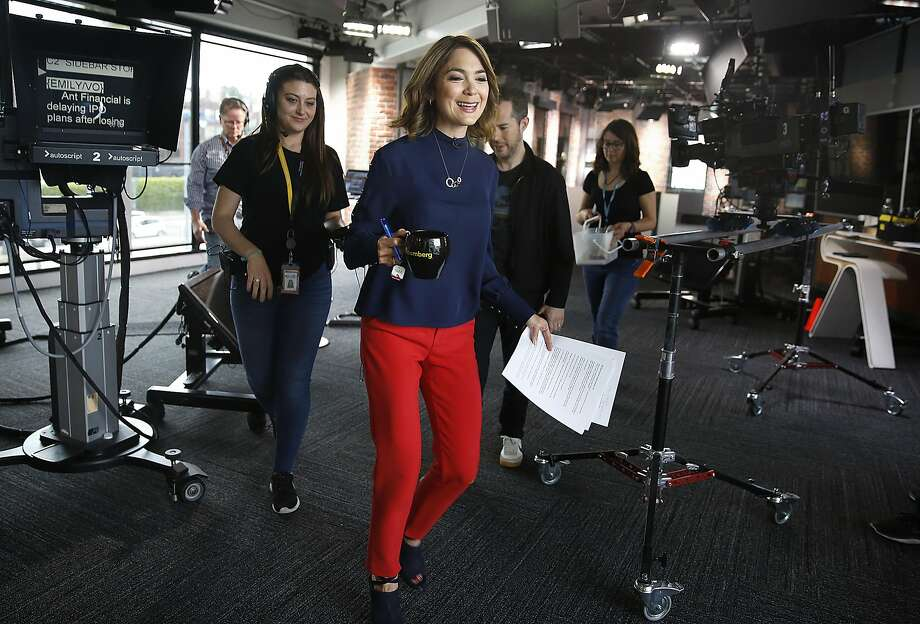 San Francisco-based anchor Emily Chang at Bloomberg television on Tuesday, May 16, 2017, in San Francisco, Calif.  Twitter's 24/7 lineup of TV programming launches in the fall partnering with Bloomberg pa to launch a news television venture. Photo: Liz Hafalia, The Chronicle