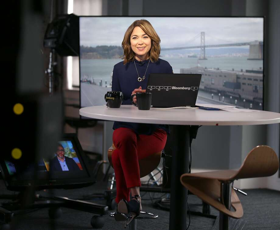 San Francisco-based anchor Emily Chang on Bloomberg TV, which is partnering with Twitter. Photo: Liz Hafalia, The Chronicle