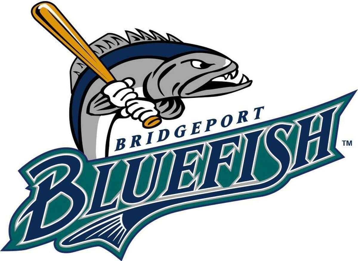 The Bridgeport Bluefish baseball logo