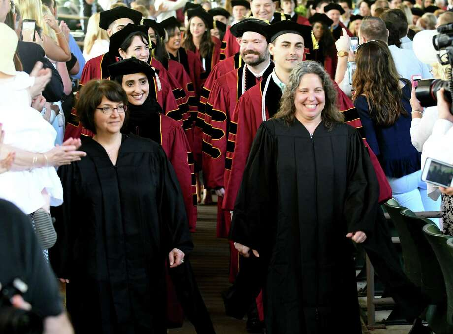 Albany Law School graduates are led into the Saratoga Performing Arts Center during commencement exercises on Friday, May 19, 2017, in Saratoga Springs, N.Y. (Will Waldron/Times Union) Photo: Will Waldron / 20040544A