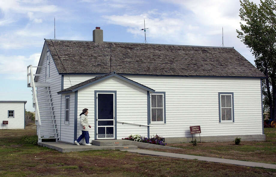FILE - In this Oct. 10, 2002 file photo, Lawrence Welk's boyhood home is seen Strasburg, N.D. A North Dakota Historical Society official says the state is trying to boost attendance at the home, which has lost money since the state purchased it two years ago. The site opens May 26, 2017, and several things are being planned this season to spur visitors. (AP Photo/Will Kincaid, File) Photo: Will Kincaid, STR / Copyright 2017 The Associated Press. All rights reserved.