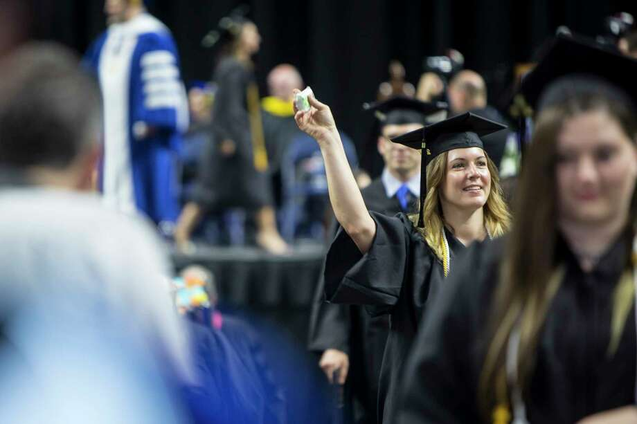 Southern Connecticut State University (SCSU) in New Haven held their graduation ceremony at the Webster Bank Arena in Bridgeport, Conn. on Friday, May 19, 2017. Photo: Johnathon Henninger, For Hearst Connecticut Media / Connecticut Post Freelance