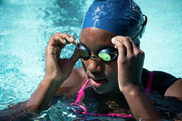 Rio Olympics gold medalist Simone Manuel was in town recently to give lessons and promote learn-to-swim programs for USA Swimming.