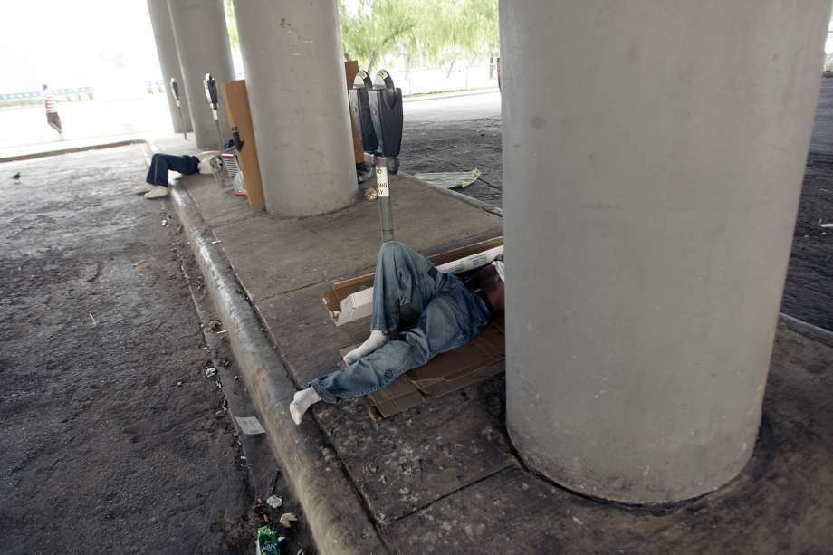 The ACLU has sued the city of Houston over new laws targeting the homeless. (MIKE KANE, SAN ANTONIO EXPRESS-NEWS)