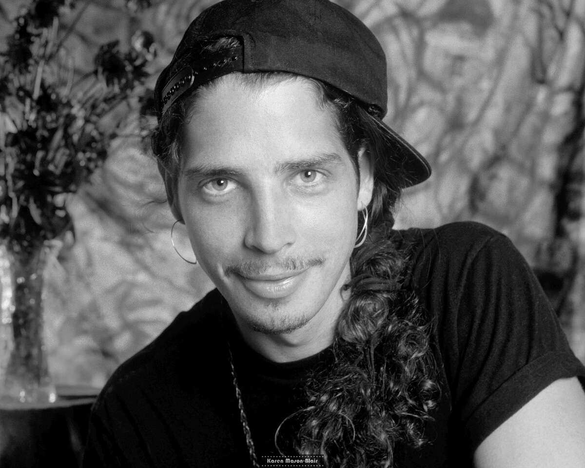 A studio portrait of Chris Cornell taken by Karen Mason-Blair, who documented the grunge era extensively with her camera. This is her favorite photo she took of Cornell.
