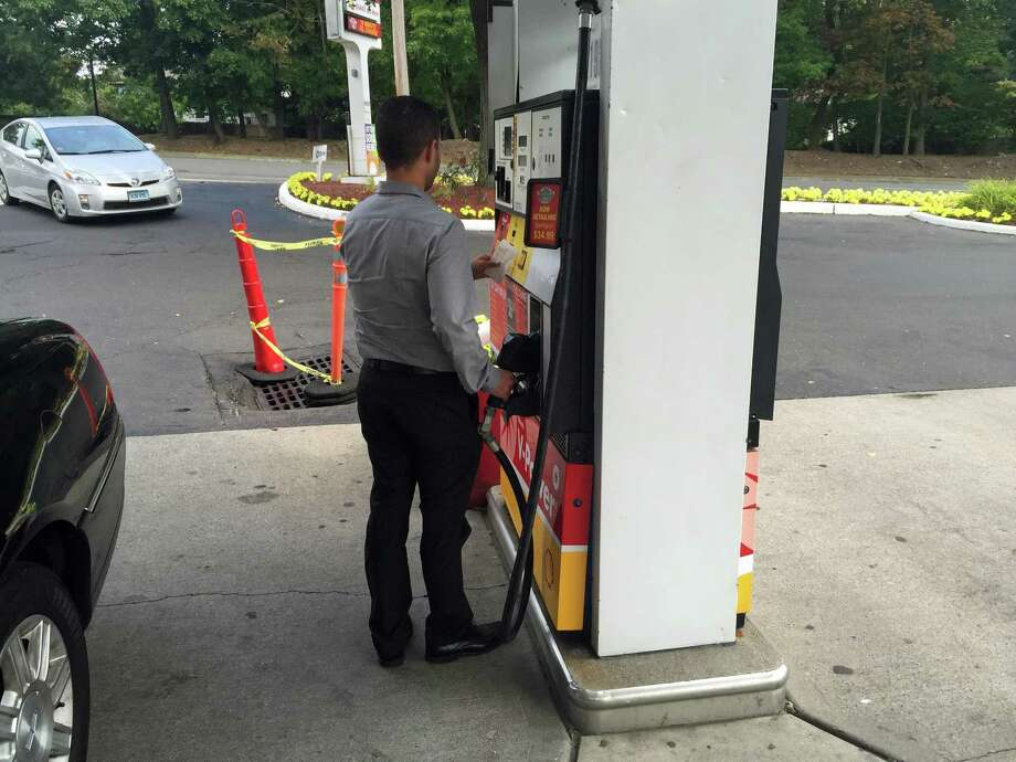 """Police are on the lookout for """"skimming"""" instruments that steal people's financial information from cards used at automatic teller machines, gas pumps and other devices. """"Gas-pump skimming has really taken off in Connecticut,"""" said Det. Mark Solomon of the Greenwich Police Department. Photo: Greenwich Time / Greenwich Time"""