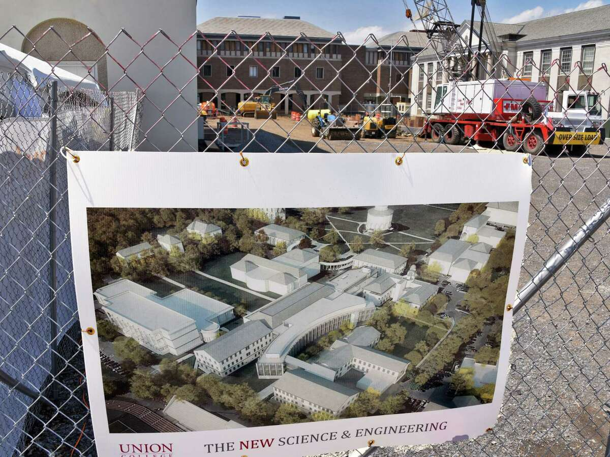Union College is breaking ground for a $100 million Integrated Science and Engineering Complex, the largest and most ambitious project in the schoolOs history, Friday May 19, 2017 in Schenectady, NY. (John Carl D'Annibale / Times Union)
