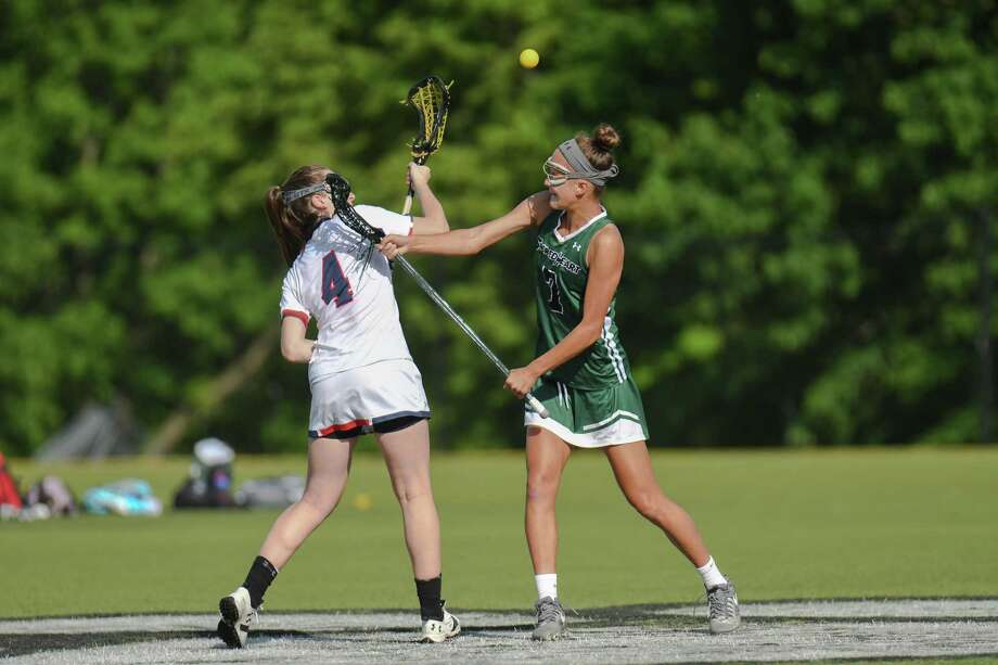 FAA Girls Championship Lacrosse game action between Sacred Heart Greenwich and Greens Farms Academy at Sacred Heart Greenwich on May 19, 2017 in Greenwich, Connecticut. Photo: Gregory Vasil / For Hearst Connecticut Media / Connecticut Post Freelance