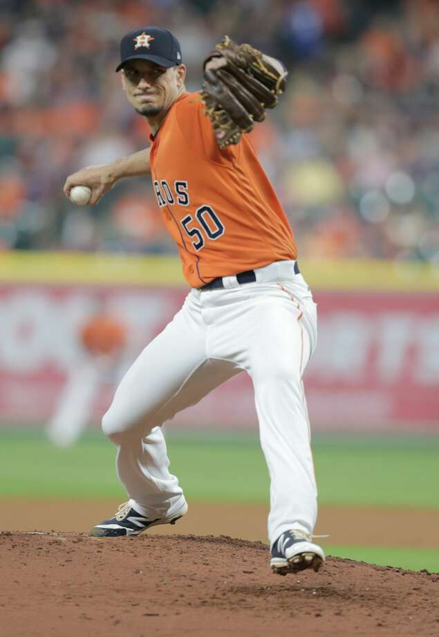 Charlie Morton said on Saturday he's scheduled to begin a minor league rehab assignment Thursday with the Astros' Class AAA affiliate in Fresno, Calif. Photo: Elizabeth Conley/Houston Chronicle