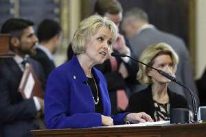 Rep. Cindy Burkett, R-Garland, defends the content of the legislation she sponsored in the House. The House tentatively passed Senate Bill 8 with a vote of 96-47.