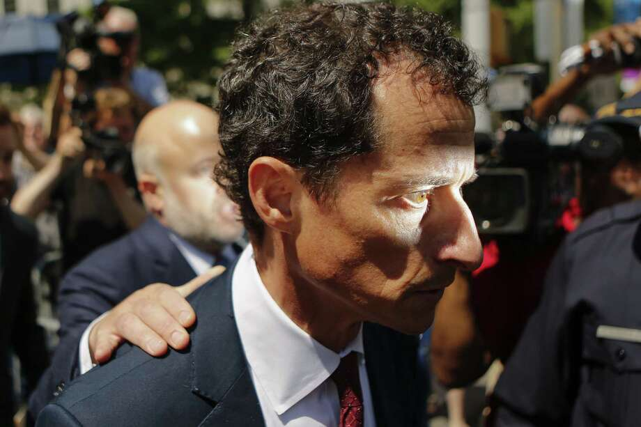 NEW YORK, NY - MAY 19: Former Democratic Congressman Anthony Weiner exits federal court in Manhattan after pleading guilty in sexting case on May 19, 2017 in New York City.  Weiner, who resigned from Congress over a sexting scandal, pleaded guilty on friday to federal charges of transmitting sexual material to a minor and could face a prison term. (Photo by Eduardo Munoz Alvarez/Getty Images) ORG XMIT: 700052522 Photo: Eduardo Munoz Alvarez / 2017 Getty Images
