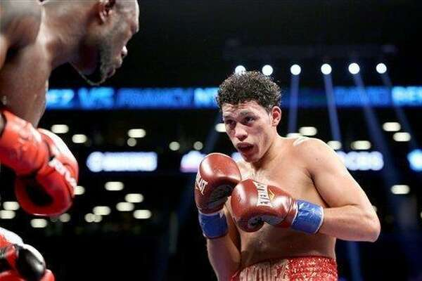 In the main event of Saturday's FS1 Premier Boxing Champions event at Laredo Energy Arena, David Benavidez (17-0, 16 KOs), pictured, puts his unbeaten record on the line against Porky Medina (37-7, 16). The winner will challenge for the super middleweight world title.