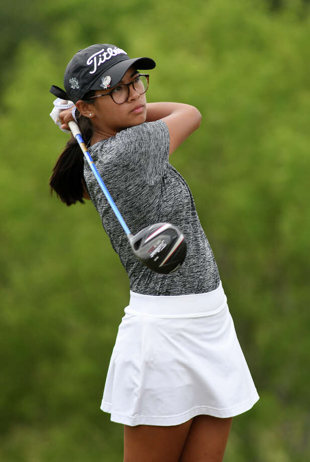 Kingwood Park sophomore Leah Alberto follows her drive off the #9 tee during the final round of the UIL Class 5A Girls Golf State Championships at Wolfdancer Golf Club in Bastrop on Tuesday, May 16, 2017. (Photo by Jerry Baker/Freelance) Photo: Jerry Baker, Freelance / Freelance