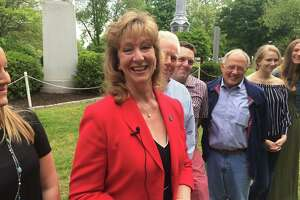 State Rep. Laura Hoydick on Saturday announces her campaign for mayor