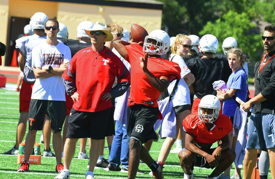 Tomball High School Football head coach Kevin Flanigan - going through his first spring season with the team - credited his athletes for the talent and drive they've already shown him. He says job one is a sweeping culture change, but with the personnel he has to work with, he's optimistic about what effect a winning mentality and approach could have. Photo: Tony Gaines / HCN