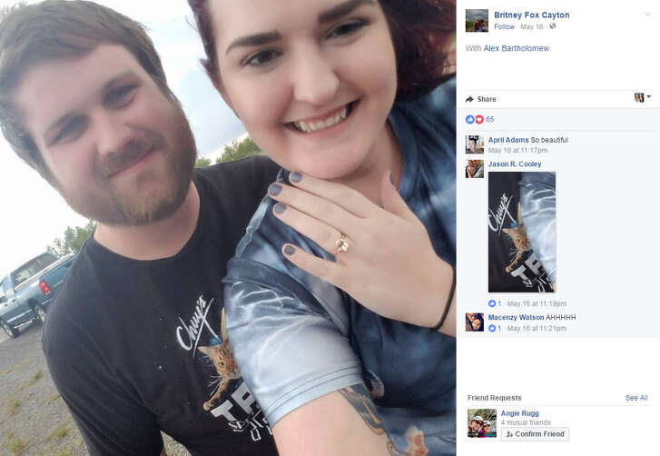 Storm chaser Alex Bartholomew gave his girlfriend Britney Fox Cayton the proposal of a lifetime when he got down on one knee in front of a huge storm — funnel included — in McLean, Texas.