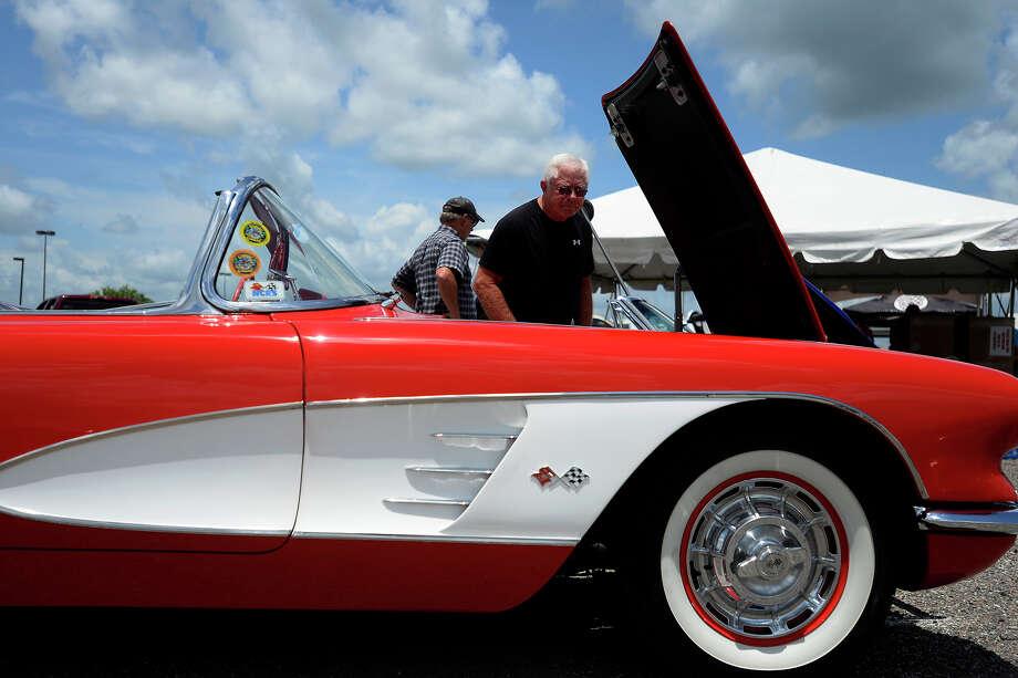 A 1960 Chevrolet Corvette On Display During The Tri City Corvette Clubu0027s  23rd Annual Corvette