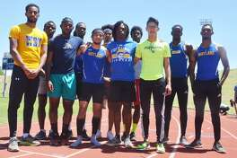 Former Plainview High School runner Joey Gonzales and his Wayland Baptist University men's track teammates will pursue a national title at the NAIA National Championships in Gulf Shores, Ala., Thursday through Saturday. The team consists of front row, from left, Adam Berhe (4x800 relay), Justin Scruggs (4x100 relay, 100-meter dash), Joey Gonzales (4x800 and 4x400 relays), Jean Soutien (4x400 and 4x100 relays, 400-meter dash), and Idahir Lopez (4x800 relay). Back row, from left, Sonwabiso Skhosana (4x400 and 4x100 relays, 400-meter dash), Donte Irving (triple jump), Brian Gonzalez (4x800 relay), Kabroderan Handsborough (4x100 and 4x400 relays, 100- and 200-meter dashes), Tre Hinds (4x400 and 4x800 relays, 400-meter dash, 400-meter hurdles), and Leon Boyd (long jumps and triple jump). Not pictured is Demetrius Turner (4x400 relay, 200- and 400-meter dashes).