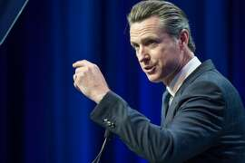 Lieutenant Governor of California Gavin Newsom speaks at the California Democrats 2017 State Convention on Saturday, May 20, 2017 in Sacramento, CA.
