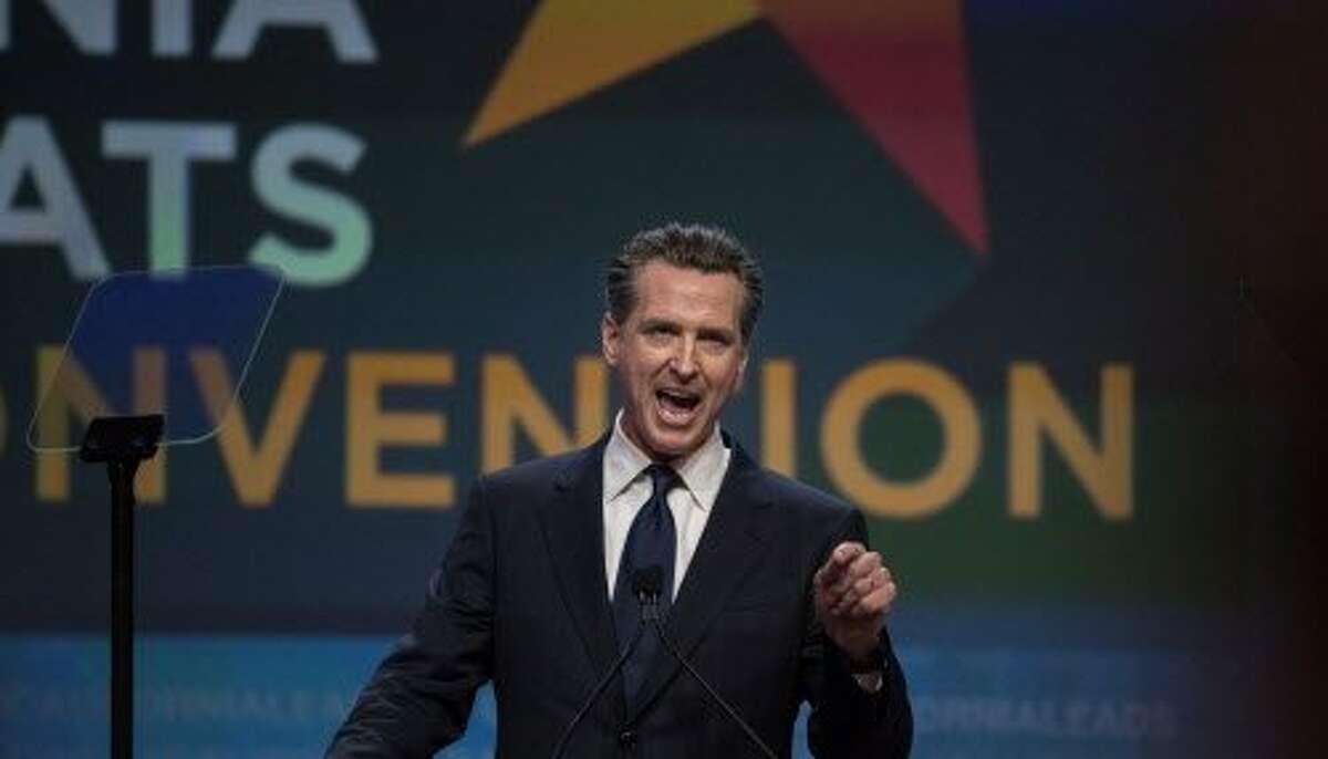 Lieutenant Governor of California Gavin Newsom speaks at the California Democrats 2017 State Convention on Saturday, May 20, 2017 in Sacramento, CA.