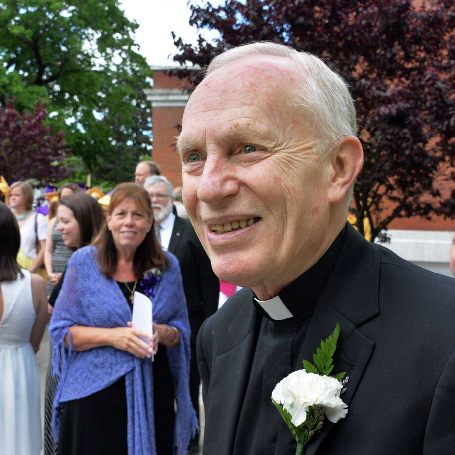 Bishop Emeritus Howard Hubbard at St. Clement's Church for Commencement Exercises for Saratoga Central Catholic School Friday June 6, 2014, in Saratoga Springs, NY.  (John Carl D'Annibale / Times Union) Photo: John Carl D'Annibale / 00027205A