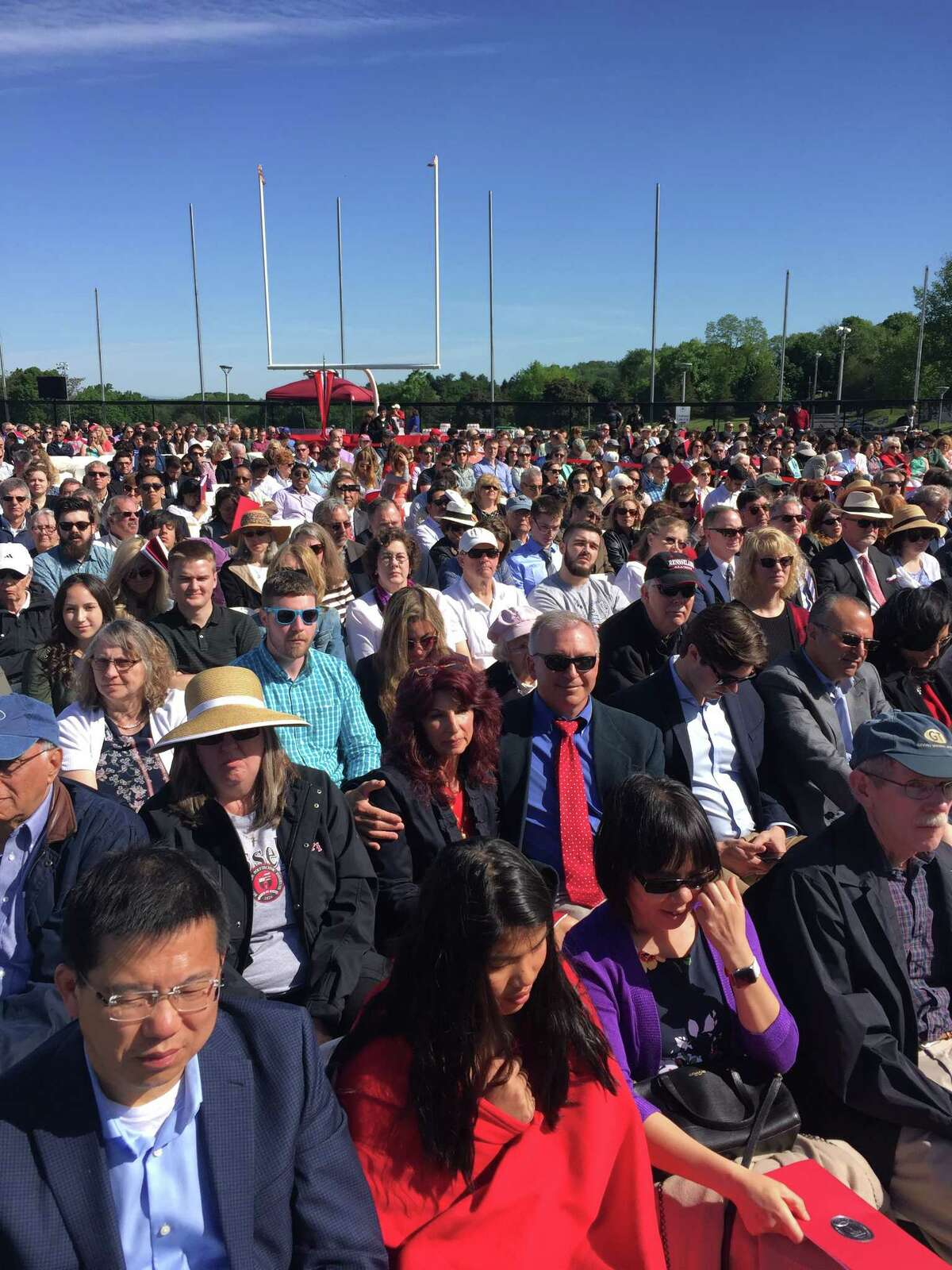 A scene from Saturday's commencement ceremony at Rensselaer Polytechnic Institute (Courtesy RPI)
