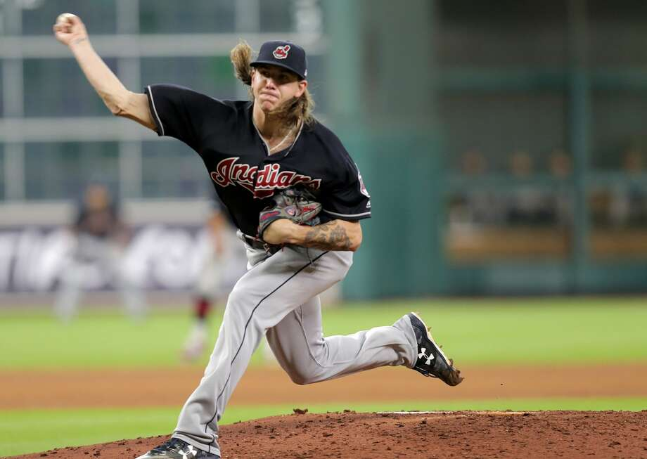Cleveland Indians starting pitcher Mike Clevinger (52) pitches in the bottom of the sixth inning against the Houston Astros on Saturday, May 20, 2017, in Houston. Cleveland won the game 3-0.( Elizabeth Conley / Houston Chronicle ) Photo: Elizabeth Conley/Houston Chronicle