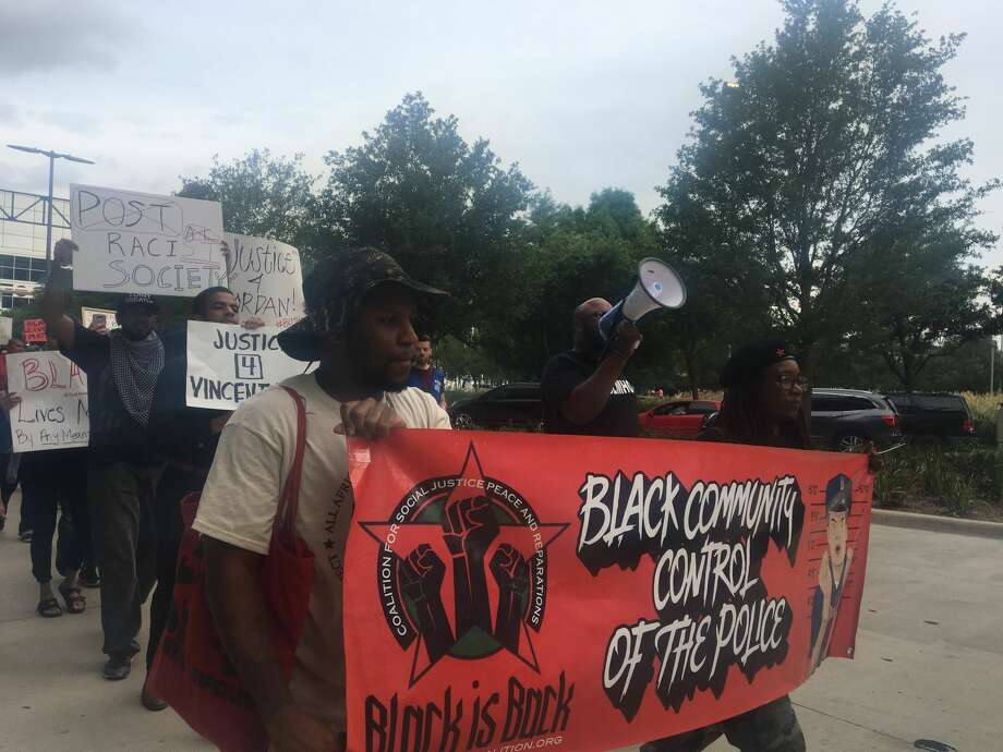 Police estimated that roughly 150 people showed up for Saturday's Black Lives Matter march. Photo: Keri Blakinger