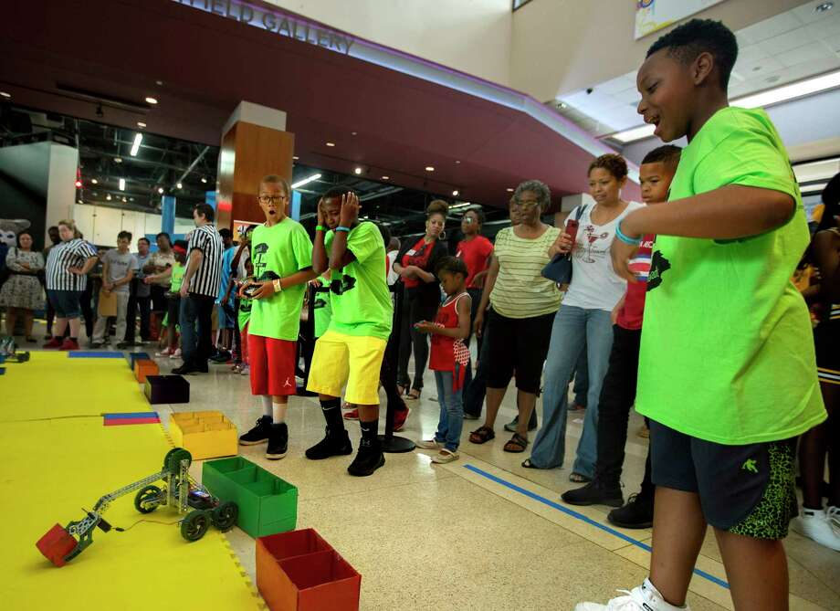 Students from Milwaukee compete at an annual science fair called C-STEM Challenge on Saturday at the Health Museum of Houston. Photo: Annie Mulligan, Freelance / @ 2017 Annie Mulligan
